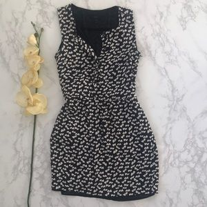 J. Crew navy blue heart print dress with pockets 2